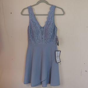 City Studio blue party dress, size 3.